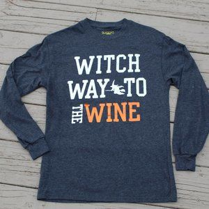 Graphic LS TShirt Which way to the WINE Grey XS